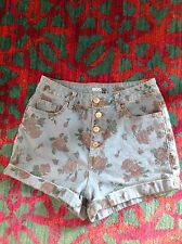 Super High Rise Foxy Urban Outfitters BDG High Waist Denim Floral Rose Shorts 29