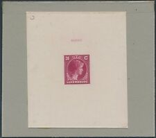 LUXEMBOURG #220AP DIE PROOF ON INDIA WITH CONTROL NO. BS3492