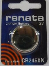 RENATA  Watch Battery  CR2450N Lithium 3V  Swiss Made  1Pc