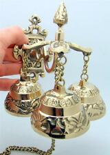 Brass Victorian Shop Bells Antique Style Store Entrance Attention Service Bell