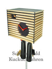 Black Forest Modern Art Cuckoo Clock Bauhaus black NEW