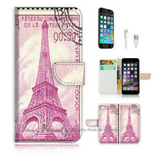 "iPhone 6 (4.7"") Print Flip Wallet Case Cover! Eiffel Tower Paris P0492"