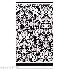BLACK DAMASK PLASTIC TABLE COVER ~ Wedding Birthday Party Supplies Decorations
