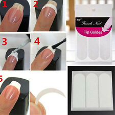 240 pcs French Manicure Nail Art Tips Form Guide Sticker Polish DIY Stencil KY