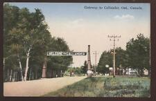 Postcard CALLANDER CANADA Welcome Arch/Gateway 1930's