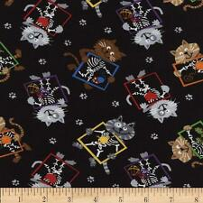 CAT Fabric Fat Quarter Cotton Craft Quilting Timeless Treasures X-RAY CATS