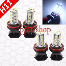 Combo 2 Pair H11 LED Chip 18 SMD White Xenon 6000K Light Bulb Motorcycle Bike