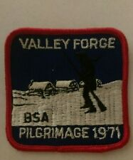 Vintage Valley Forge Pennsylvania History Patch BSA Pilgrimage 1971 Sew On Rare
