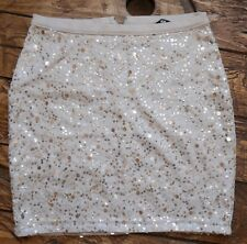 BNWOT H&M SEQUIN STRETCH SKIRT-XS(UK 6-8)Saints/Wedding/Holiday/Work/Office wear