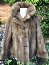 TRUE VINTAGE Genuine MINK FUR HARRODS HONEY SABLE PASTEL COAT JACKET 50's M 14