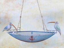 Dekokorb Hängekorb Vogel Eisen Schiff Boot Anker Hängedeko Blumenampel E16287-a