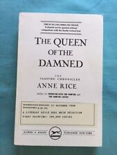 THE QUEEN OF THE DAMNED - UNCORRECTED PROOF SIGNED BY ANNE RICE