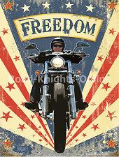 Garage Vintage, Freedom Cruiser, Moto Motocycle, Large Métal/étain signe