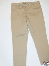 NWT Womens Ralph Lauren Polo Khaki Flat Front Skimmer Cropped Skinny Pants 14