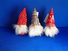 3 Scandinavian Danish Swedish Style Elf Tomte Nisse Gnomes  #8446