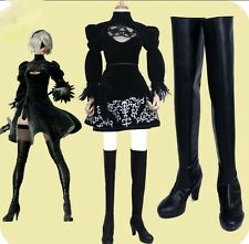 NieR Automata YoRHa 2B Cosplay Boots Cosplay Shoes High-heeled Shoes