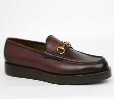 New Gucci Men's Shaded Leather Platform Horsebit Loafer 14/US 15 353043 6123