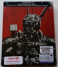 NEW CHAPPIE BLU RAY TARGET EXCLUSIVE STEELBOOK LIMITED EDITION FREE SHIPPING