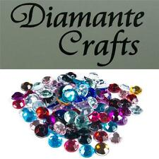 100 x 8mm Mixed Colour Diamante Loose Flat Back Rhinestone Vajazzle Body Gems