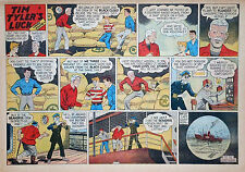 Tim Tyler's Luck by Young - large half-page color Sunday comic - July 13, 1947