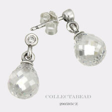 Authentic Pandora Silver Geometric Drops Clear CZ Stud Earrings 290595CZ