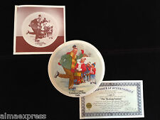 1981 Castari Grandparent Collector Plate Christmas The Skating Lesson 2nd Issue