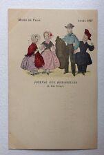 CPA. Modes de Paris. Journal des Demoiselles. 1827. Enfants. Jeunes Gens.