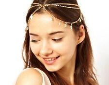 Women headwear Metal Rhinestone Chain Jewelry Headband Head Piece Hair band AE