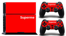 SUPERME SONY PS4 DECAL SKIN PROTECTIVE STICKER for SONY PS4 CONSOLE CONTROLLER