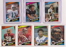 1984 Topps Football Set (1-396) Dan Marino John Elway Dickerson Rc Rookie