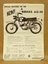 Vtg Pabatco Hodaka Ace 90 Motorcycle Brochure Flyer Pamphlet Features Specs