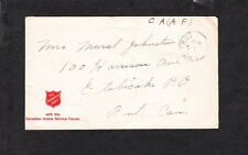 WWII Soldier Mail Salvation Army 1942 Canada Active Servic Forces  Cover z26