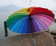 2016 NEW Very beautiful rainbow Umbrella Parasol For Wedding Party Favor
