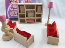 Wooden doll Living room furniture Great gift develops imagination creativity etc