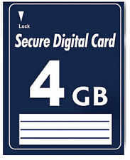 4GB SD Speicherkarte Secure Digital Card 4 GB Karte für Panasonic HC-V 707 EGK