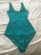 American Apparel Geo Lace See Thro Tank Bodysuit Size S - Jade color