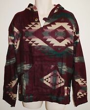 New Acrylic Fleece Hoody Jumper XL chest to 48 inches Hippy Fairly Traded Aztec