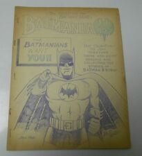 1965 BATMANIA #8 28 Pages Batman & Robin Fanzine ZINE White House of Comics FN