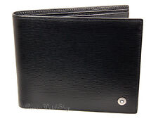NEW Mont Blanc 4810 Westside Collection 8372 Black Leather 8cc Men Wallet 08372