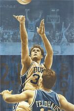 "Christian Laettner and lithograph print ""2.1 Seconds that Last Forever"" (16x24"")"