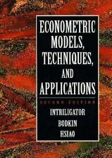 Econometric Models, Techniques, and Applications by Cheng Hsiao, Ronald G....