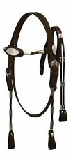 Horse Size POCO Leather Headstall with Reins - Dark Oil
