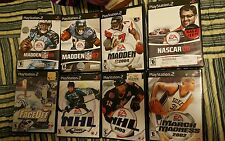 Complete Madden 07,& 08 & 04, March madness 2002,Nhl 2001 & 2003&Faceoff.ps3 Lot