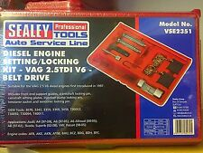 SEALEY SEAT VAG VW AUDI 2.5 TDi V6 DIESEL ENGINE CAM CRANK TIMING TOOL KIT