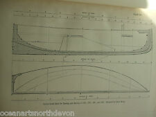 ANTIQUE PRINT C1895 DIXON KEMP YACHT & BOAT SAILING CENTRE-BOARD BOAT FOR ROWING