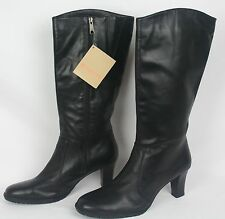 NEW Womens black leather NATURALIZER Knee High Fashion  BOOTS Waterproof Size 11