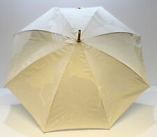 Chloe Parfums Pastel Pink/nude  And Cream Light Wood Handle Large Umbrella *new