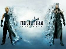 POSTER FINAL FANTASY CLOUD YUNA PLASTIFICATO GRANDE A2