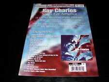 RAY CHARLES SINGS FOR AMERICA!!!!!RARE FRENCH PRESS/KIT