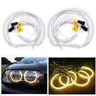 4 X BMW E46 2Door Coupe 320 325 330 2004 CCFL ANGEL EYES HALO RINGS kit - Yellow
